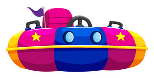 Bump car with one seat. Illustration Royalty Free Stock Photos