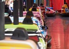 Bump cars in amusement park royalty free stock photos