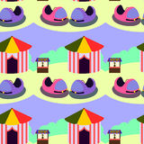 Bump cars seamless background design Royalty Free Stock Photography