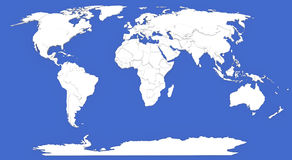 Bump map of World. 3d modeled map of world with different heights of statesBump map of World Stock Images