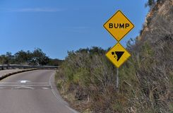 Bump in the Road Stock Images