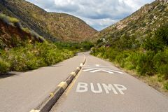Bump in the Road Stock Photography