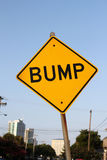 Bump road sign Stock Photos