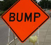 Bump sign Royalty Free Stock Photos
