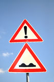 Bump Traffic Sign Stock Photos