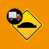 Bump traffic sign concept. Vector illustration eps 10 Royalty Free Stock Images