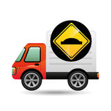 Bump traffic sign concept. Vector illustration eps 10 Stock Photography