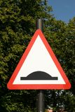 Bump warning traffic sign. In a park in GB Stock Photography
