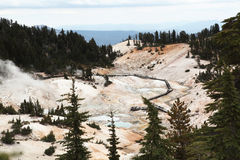 Bumpass Hell in Lassen Volcanic National Park Stock Photography