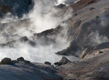 Bumpass Hell in Lassen Volcanic National Pass Stock Images