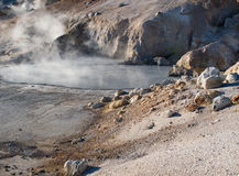 Bumpass Hell in Lassen Volcanic National Pass Royalty Free Stock Photography