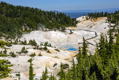 Bumpass Hell at Mount Lassen Royalty Free Stock Photography