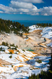 Bumpass Hell volcanic area in Lassen Volcanic Park, California. Royalty Free Stock Image