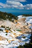 Bumpass piekła powulkaniczny teren w Lassen Powulkanicznym parku, Kalifornia. Obraz Royalty Free