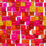 Bumped hearts (Seamless texture) Stock Images