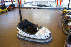 Bumper car in an amusement park Royalty Free Stock Image