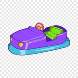 Bumper car in amusement park icon, cartoon style royalty free illustration