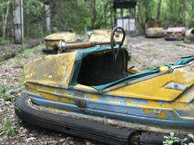 Bumper car at the amusement park in Pripyat Royalty Free Stock Images