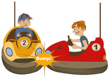 Bumper car drivers Royalty Free Stock Photo