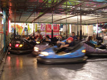 Bumper Car Fun Blur. Bumper car ride at a carnival Royalty Free Stock Photo
