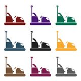 Bumper car icon in black style isolated on white background. Play garden symbol stock vector illustration. Stock Image