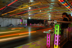 Bumper cars royalty free stock photography
