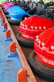 Bumper cars. Colour  Bumper cars  in  the  playground Royalty Free Stock Photography