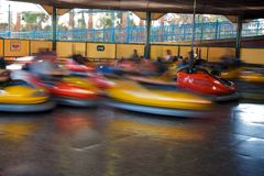 Bumper cars in action Stock Image
