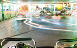 Bumper Cars Amusement Park Ride Blurred Motion Stock Images