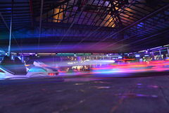 Bumper cars - amusement ride track Royalty Free Stock Photography