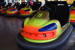 Bumper Cars at Christmas fair. Stock Images