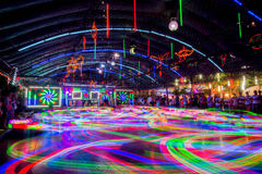 Bumper Cars colorful light trail. Stock Images