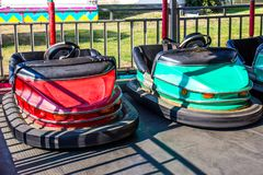 Bumper Cars At Local Fair stock photos