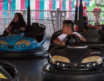 Bumper Cars At the Midway Royalty Free Stock Image