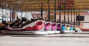 Bumper cars in a row Royalty Free Stock Images