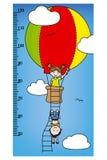 Bumper children meter wall. Children in a balloon Stock Photography