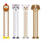 Bumper children meter wall Royalty Free Stock Photo