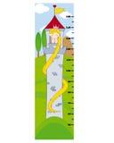 Bumper children meter wall Stock Images