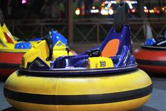 Bumper colourful car in amusement park kids royalty free stock image