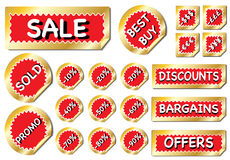 Bumper sale stickers Royalty Free Stock Photo