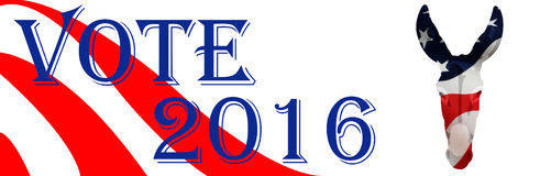 Bumper Sticker for Democrat 2016 Royalty Free Stock Images