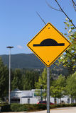 Bumper traffic sign Royalty Free Stock Photos