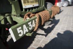 Bumper van groene Willy MB Stock Afbeeldingen