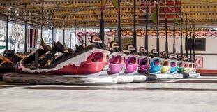 Bumperauto's op een rij Royalty-vrije Stock Afbeeldingen