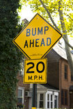 Bumps Ahead road sign Stock Photography