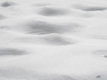 Bumpy mound snow surface background, shallow depth of field Stock Photography