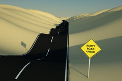 Bumpy Road Ahead Royalty Free Stock Photo