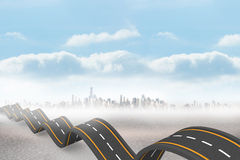 Bumpy road backdrop Royalty Free Stock Image