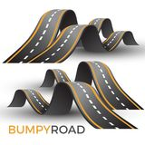 Bumpy road icon uneven dangerous wave path with marking vector Royalty Free Stock Photo