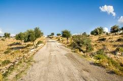 Bumpy road in Puglia countryside -  Gargano Royalty Free Stock Image